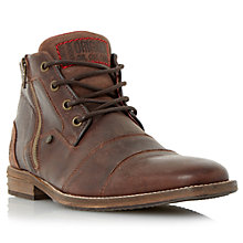 Buy Dune Captain Double Toe Cap Detail Leather Boots Online at johnlewis.com