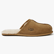 Buy UGG Scuff Sheepskin Mule Suede Slippers, Chestnut Online at johnlewis.com