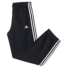 Buy Adidas Essentials 3-Stripes Tracksuit Bottoms, Black Online at johnlewis.com
