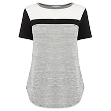 Buy Oasis Sporty Dipped Hem T-Shirt, Multi Online at johnlewis.com