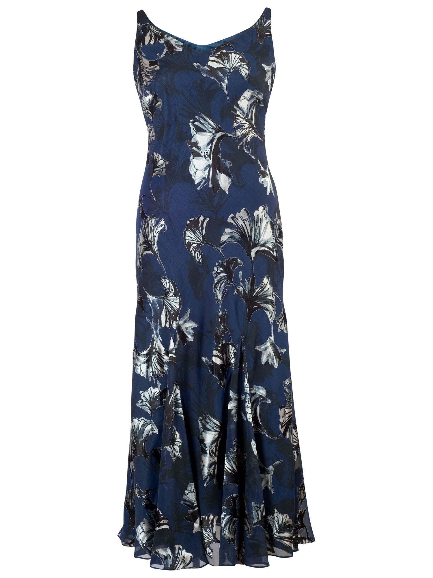 Chesca Chesca Fan Print Devoree Dress, Navy