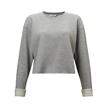 Buy Miss Selfridge Cropped Sweatshirt Online at johnlewis.com