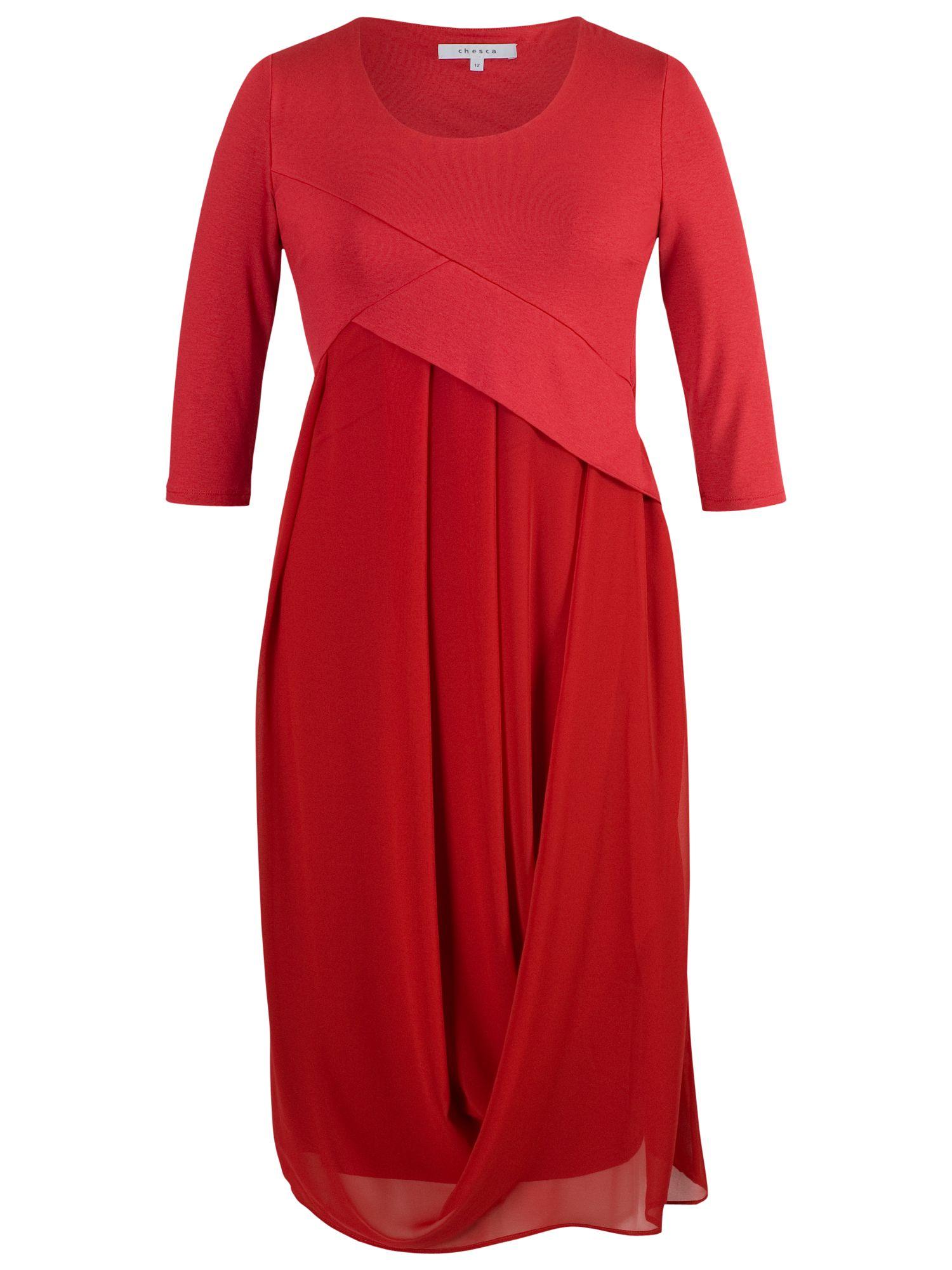 Chesca Chesca Jersey Chiffon Dress