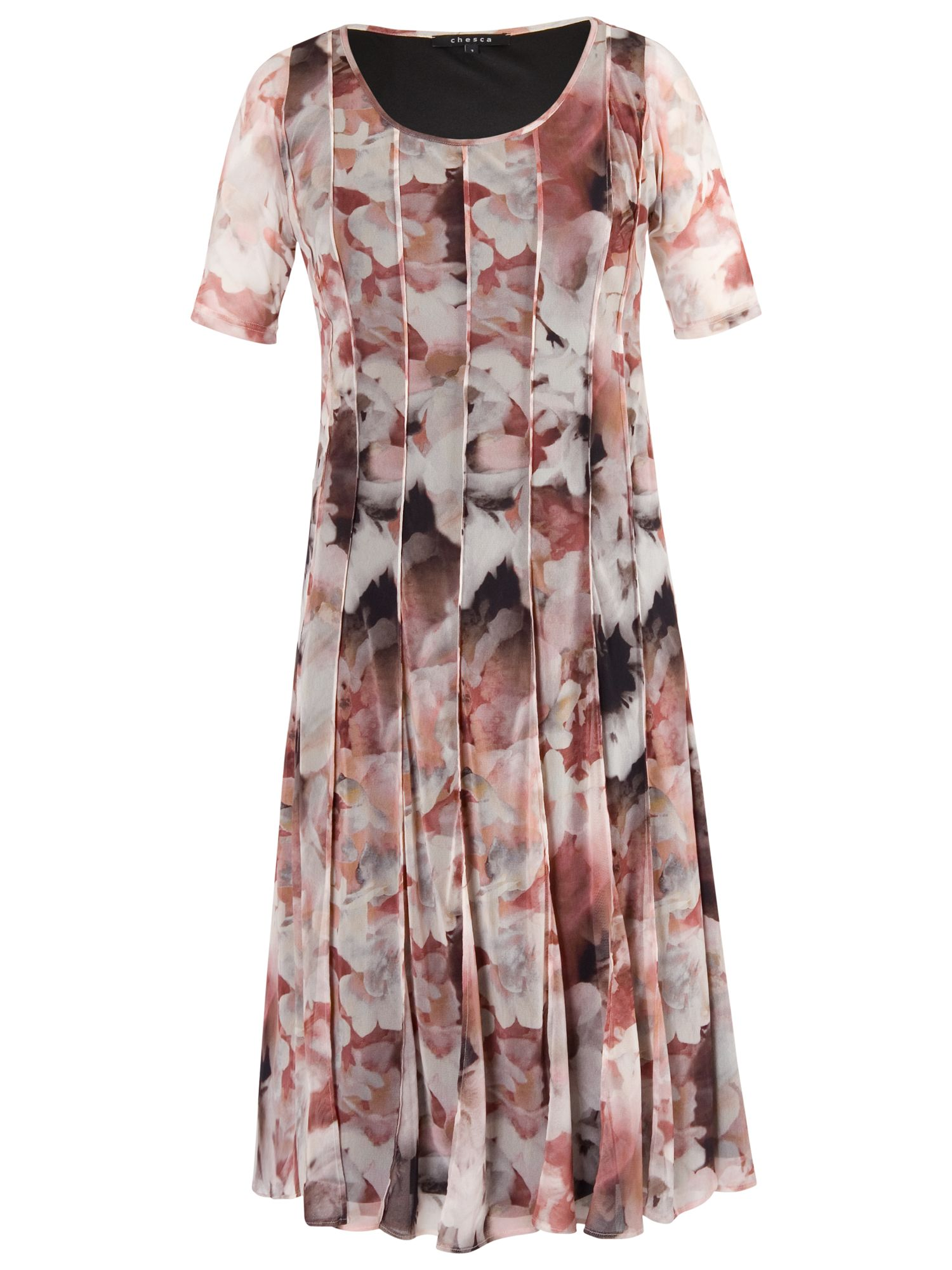 Chesca Chesca Floral Mesh Dress, Powder Pink