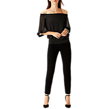 Buy Coast Irkime Bardot Top, Black Online at johnlewis.com