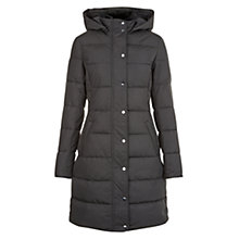 Buy Hobbs Lilianna Puffer Coat, Charcoal Online at johnlewis.com