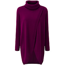 Buy Pure Collection Nora Split Front Tunic Jumper, Rich Berry Online at johnlewis.com