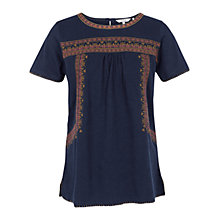 Buy Fat Face Hope Embroidered Top Online at johnlewis.com