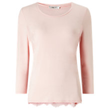 Buy Precis Petite Molly Lace Trim Jersey Top, Light Pink Online at johnlewis.com