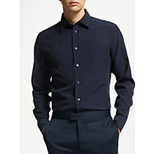 Buy J. Lindeberg Daniel Dyed Cotton Shirt, White Online at johnlewis.com