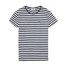 Buy Hilfiger Denim Stripe T-Shirt, Black Iris Online at johnlewis.com