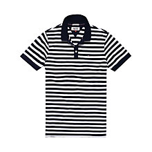 Buy Hilfiger Denim Stripe Cotton Polo Shirt, Black Iris Online at johnlewis.com