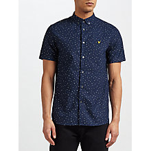 Buy Lyle & Scott Paint Dot Print Short Sleeve Shirt, Navy Online at johnlewis.com
