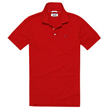 Buy Hilfiger Denim Short Sleeve Polo Shirt, High Risk Red Online at johnlewis.com