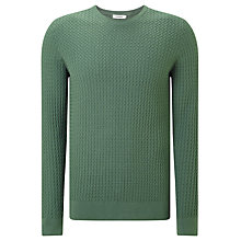 Buy J. Lindeberg Ryan Urban Braid Knit Jumper, Dusty Green Online at johnlewis.com