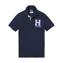 Buy Hilfiger Denim Basic 'H' Polo Shirt, Black Iris Online at johnlewis.com