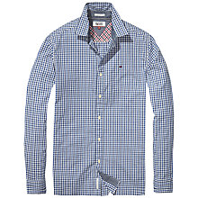 Buy Hilfiger Denim Multi Gingham Shirt, Black Iris Online at johnlewis.com