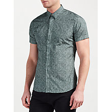 Buy J. Lindeberg Daniel Soft Print Short Sleeve Shirt, Dusty Green Online at johnlewis.com