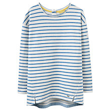 Buy Joules Clemence Salt Wash Sweatshirt, Hope Stripe Light Indigo Online at johnlewis.com