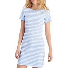 Buy Joules Riviera Luxe Stripe Jersey Dress, Sky Blue/Silver Online at johnlewis.com