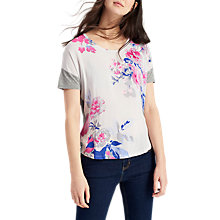 Buy Joules Zoe Jersey Back Top, Soft Grey Bloom Online at johnlewis.com