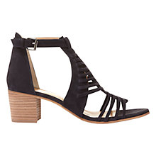 Buy Mint Velvet Robyn Block Heeled Sandals, Dark Blue Online at johnlewis.com