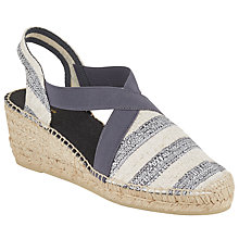 Buy John Lewis Ter Wedge Heeled Espadrilles, Grey/Cream Online at johnlewis.com