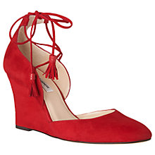 Buy L.K. Bennett Leticia Tie Wedge Heeled Court Shoes Online at johnlewis.com