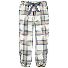 Buy Fat Face Cuffed Check Lounge Trousers, Grey Online at johnlewis.com