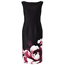 Buy Precis Petite Charlitta Placement Floral Dress, Black/Multi Online at johnlewis.com