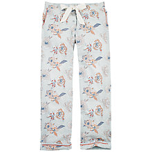 Buy Fat Face Floral Classic Lounge Trousers, Chambray Online at johnlewis.com