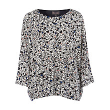 Buy Phase Eight Terazo Print Top, Navy Online at johnlewis.com