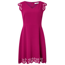 Buy Precis Petite Arlia Scallop Cutwork Dress, Dark Pink Online at johnlewis.com