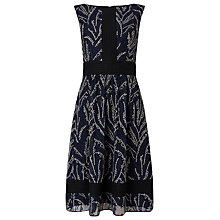 Buy Phase Eight Delicia Embroidered Dress, Navy Online at johnlewis.com