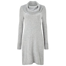 Buy Precis Petite Becca Cowl Neck Dress, Light Grey Online at johnlewis.com