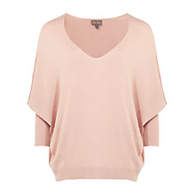 Buy Phase Eight Kamlia Exposed Seam V Neck Jumper, Soft Pink Online at johnlewis.com