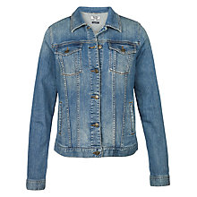 Buy Fat Face Tasha Denim Jacket, Mid Denim Online at johnlewis.com