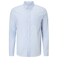 Buy Libertine-Libertine Hunter Long Sleeve Oxford Shirt, Sky Blue Online at johnlewis.com