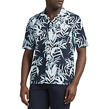 Buy Libertine-Libertine Cave Hawaiian Short Sleeve Shirt, Blue Online at johnlewis.com