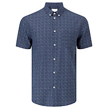 Buy Samsoe & Samsoe Vento Cross Print Shirt, Blue Cross Online at johnlewis.com