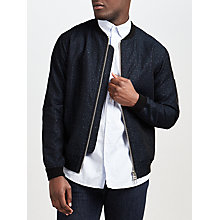 Buy Libertine-Libertine Fever Cotton Linen Bomber Jacket, Dark Navy Online at johnlewis.com