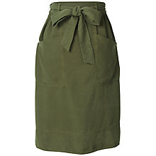 Buy Fat Face Juno Midi Skirt, Forest Green Online at johnlewis.com