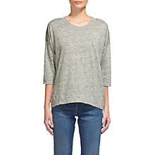 Buy Whistles Laura T-Shirt, Grey Marl Online at johnlewis.com