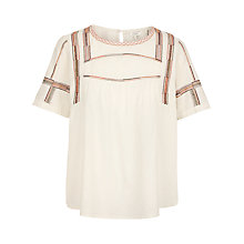 Buy Fat Face Luna Embroidered Blouse, Ivory Online at johnlewis.com