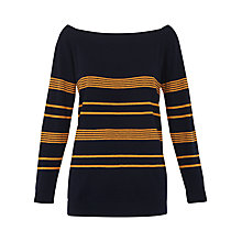 Buy Whistles Bardot Relaxed Jumper, Navy Online at johnlewis.com