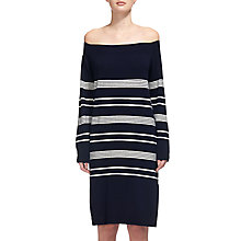 Buy Whistles Rae Bardot Jumper Dress, Navy Online at johnlewis.com
