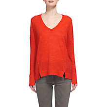 Buy Whistles Crew Neck Relaxed Knit Jumper, Red Online at johnlewis.com