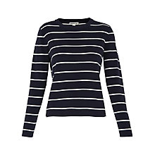 Buy Whistles Stepped Hem Knitted Stripe Jumper, Multi Online at johnlewis.com