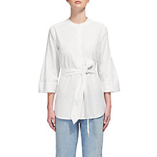 Buy Whistles Rosalind Pin Tuck Shirt, White Online at johnlewis.com
