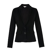 Buy Whistles Slim Jersey Jacket, Black Online at johnlewis.com